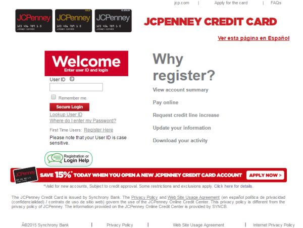 Www Jcpcreditcard Com Jcpenney Credit Card Login To Manage