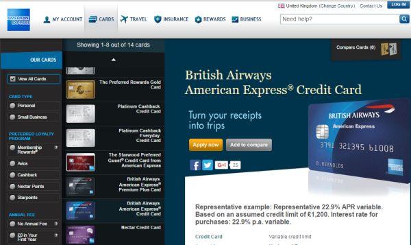 British Airways Credit Card