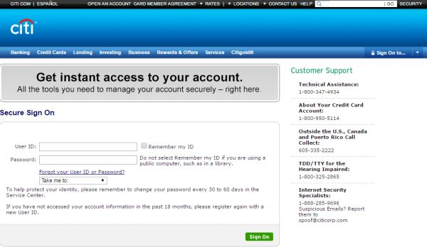 Citibank Online Sign In >> Www Citicards Com Citibank Credit Card Login To Access