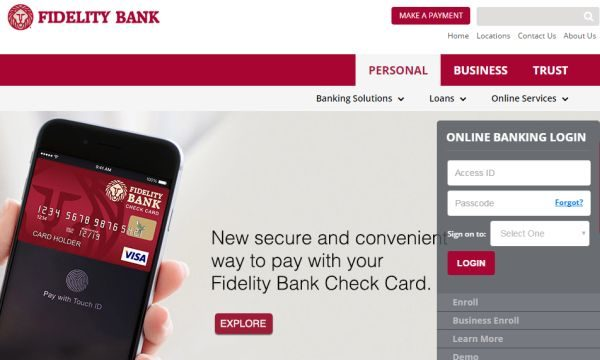 Fidelity Bank Login