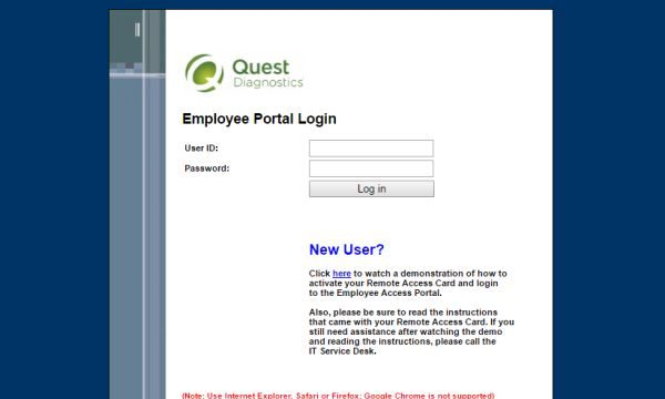 xQuest Diagnostics Employee Portal