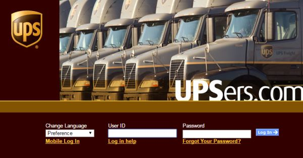 UPS Enterprise Portal Login
