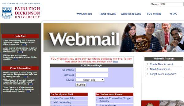 fdu webmail sign in
