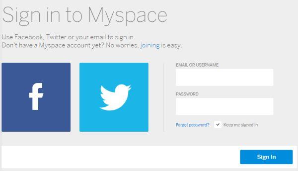 MySpace Login