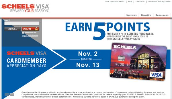 Scheels Credit Card Login